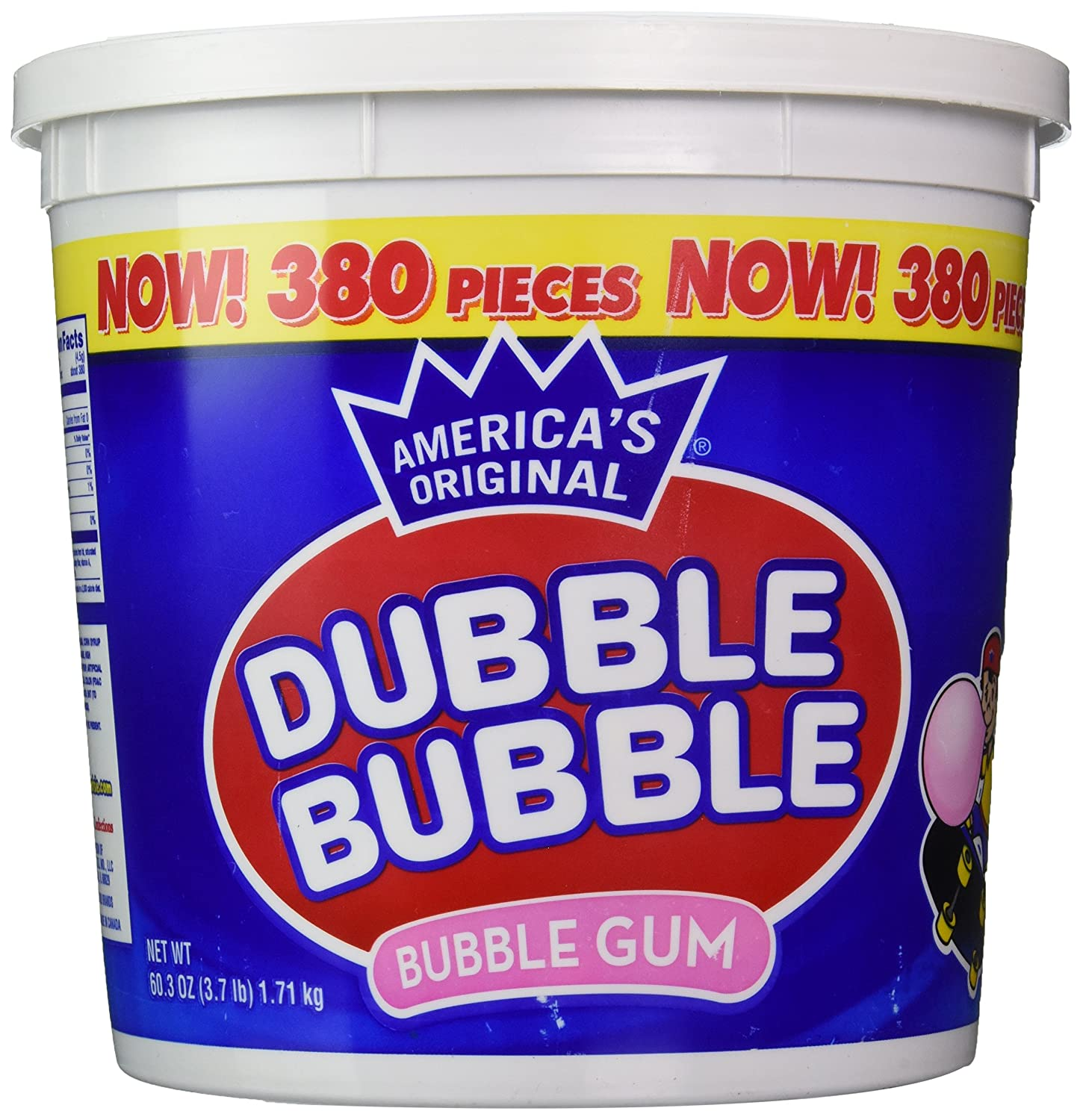 Dubble Bubble Bubblegum - Original - 380ct Tub