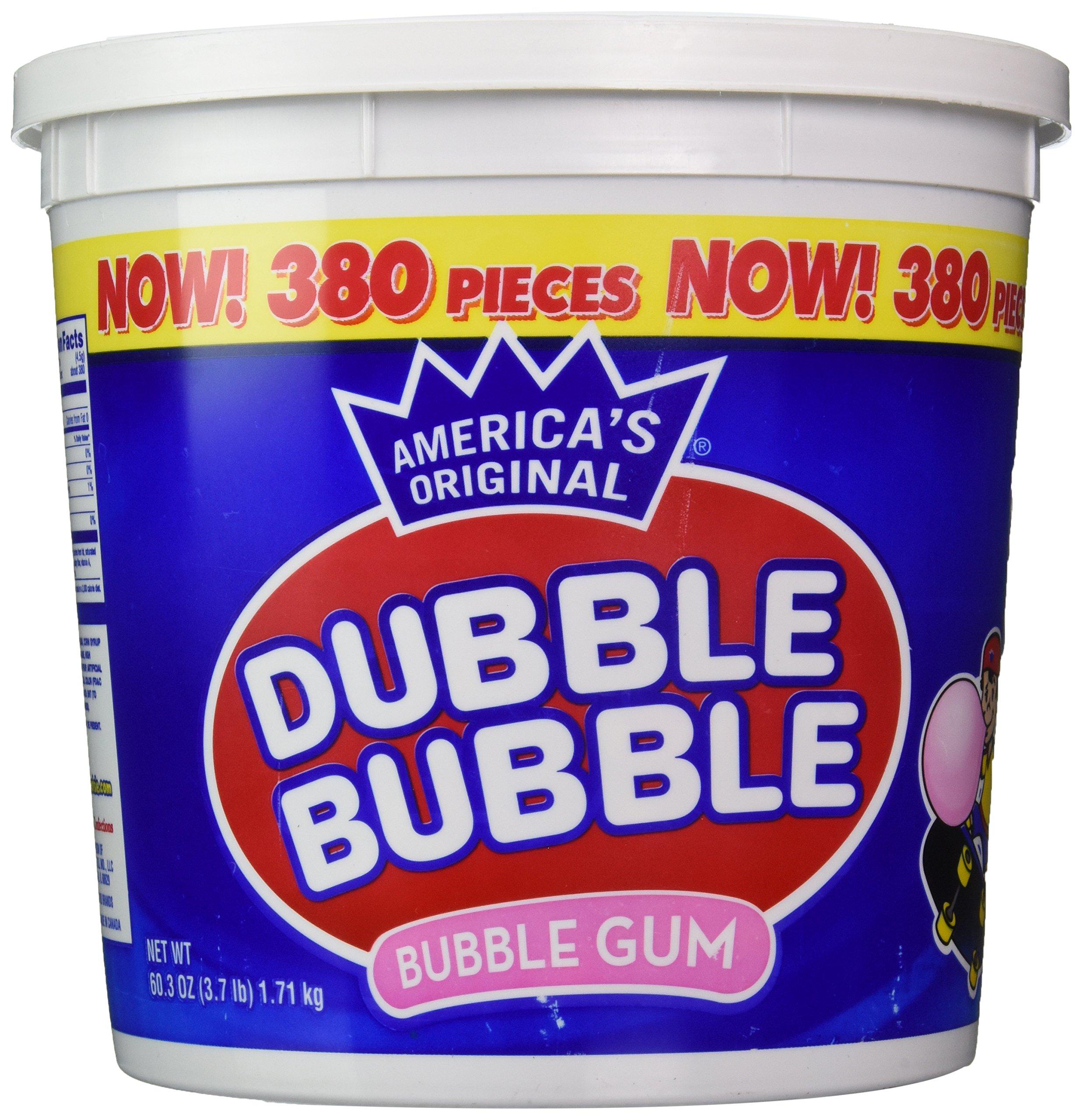 Dubble Bubble Tub, Original Flavor, 380-Count, 60.3 Oz(3.7 lb)