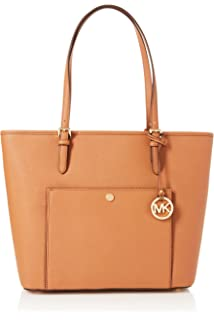 MICHAEL KORS JET SET ITEM MD TZ SNAP POCKET TOTE LEATHER ACORN Tasche Original