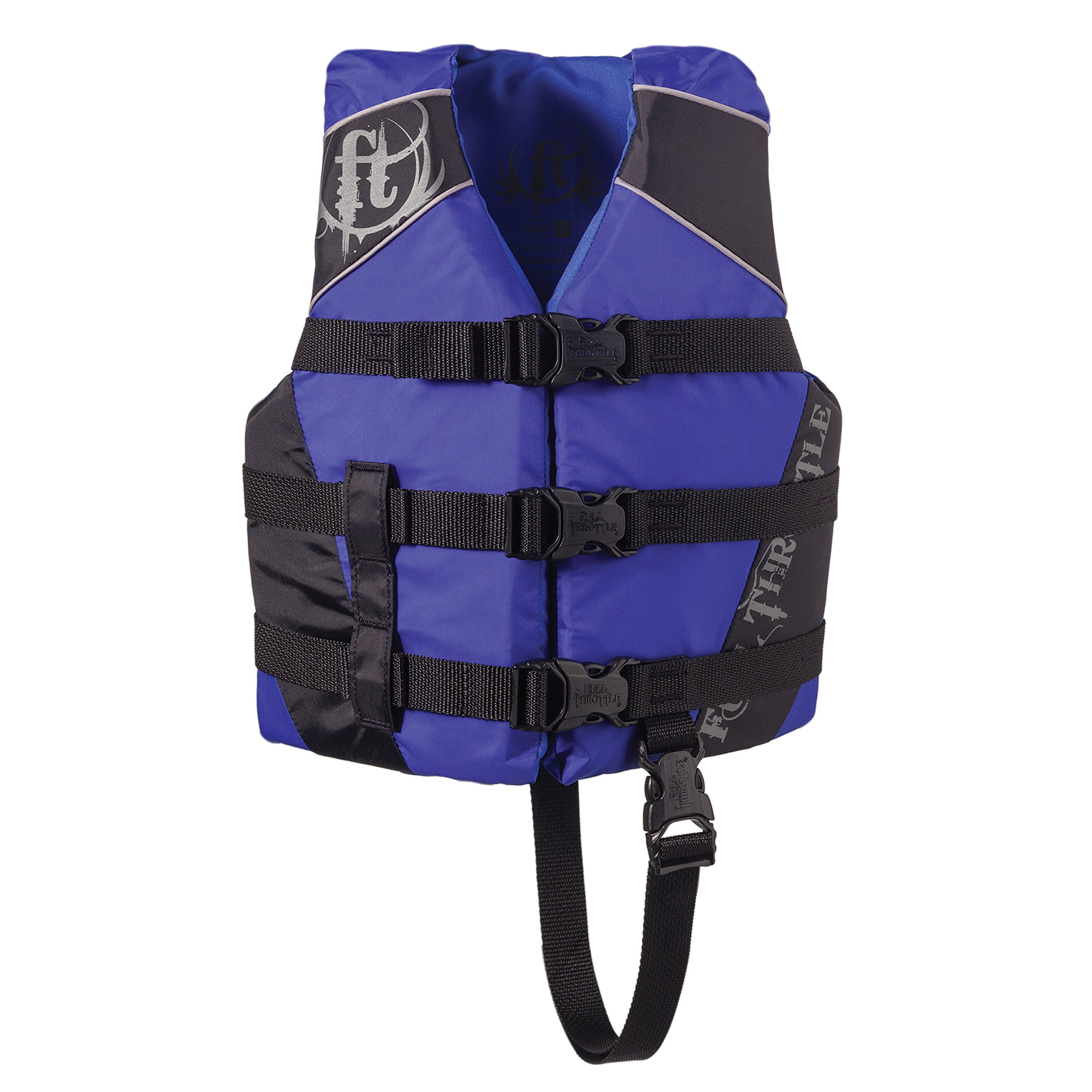 Full Throttle Child Watersports Vest - Blue/Black