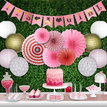 Amazoncom Baby Shower Decorations For Girl Sets Champagne Rose