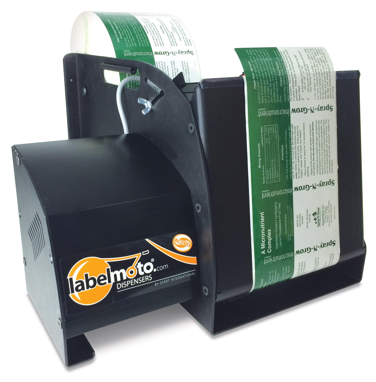 START International LDX8100 Super-Speed Electric Label Dispenser for Up to 8'' Wide and 12'' Long Labels, Black
