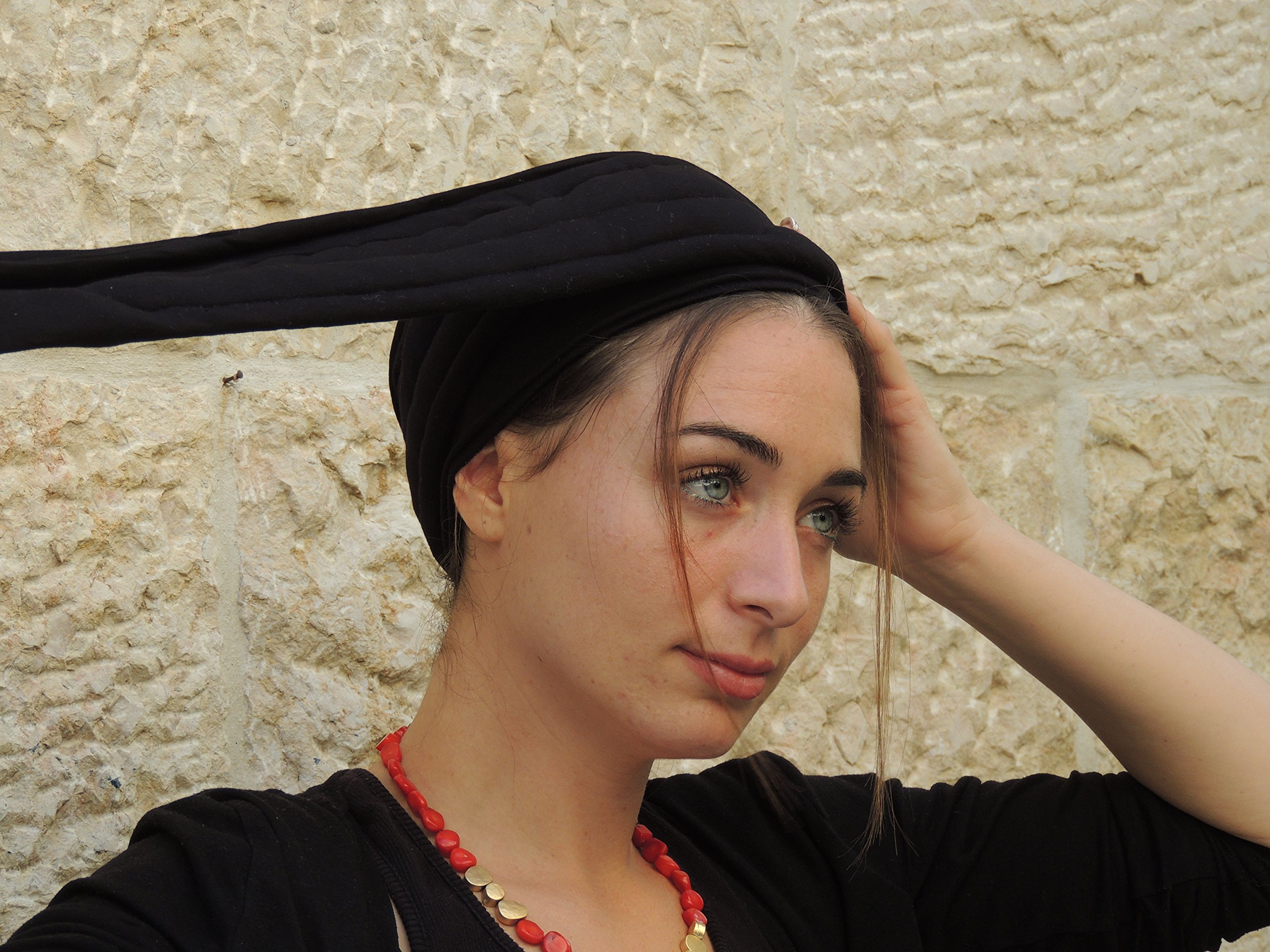 Sara Attali Design Tichel Volumizer Head Scarves, Chemo Volumizing Super Plus Black by Sara Attali Design (Image #5)