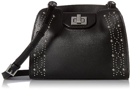 b67fe65e8f78 Calvin Klein womens Calvin Klein Clementine Mercury Leather   Celestial  Stud Embellished Crossbody