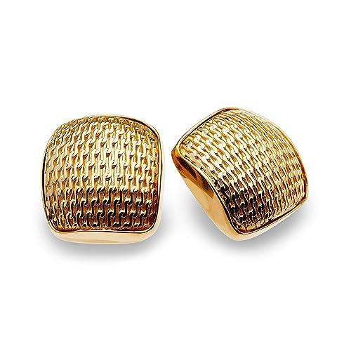 8ad4ea46c23b Aretes de Broche Guelaguetza - Baño de Oro 14k y 18k