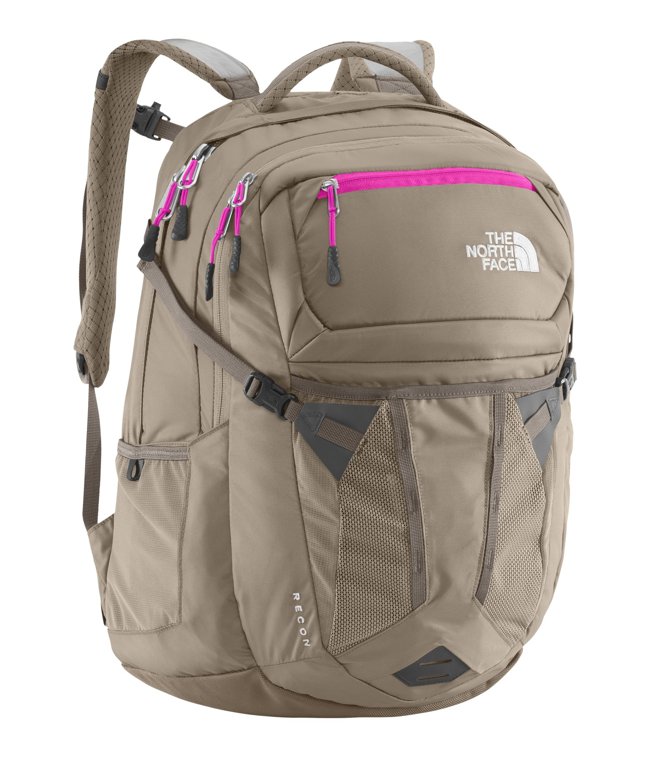 The North Face Women's Women's Recon Brindle Brown/Luminous Pink Backpack by The North Face
