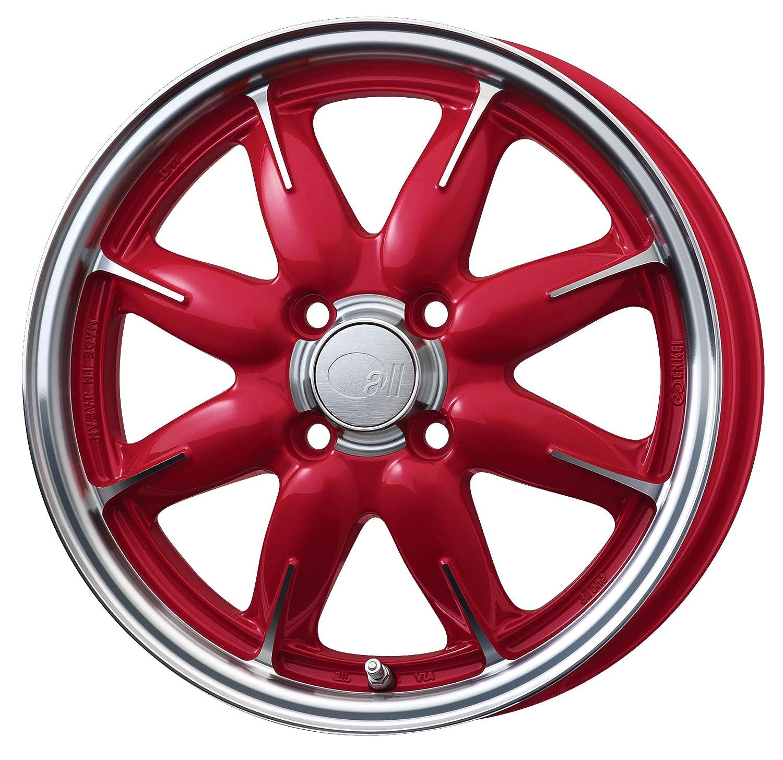 エンケイ アルミホイール all one 15 x 5.0J +45 4H 100 Machining Red AL1-550-45-4C-R B06WLKJ75S