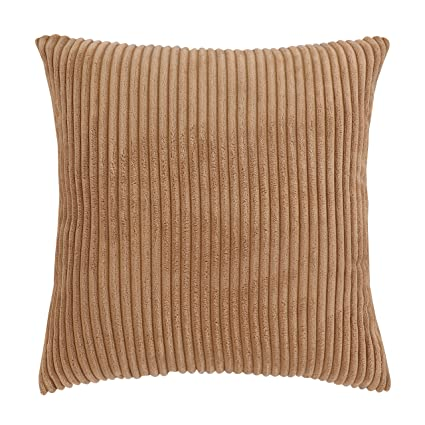 Gentil Famibay Throw Pillow Cover 24x24,Striped Corduroy Cushion Cover Sofa Pillow  Case Covers Zipper Decorative