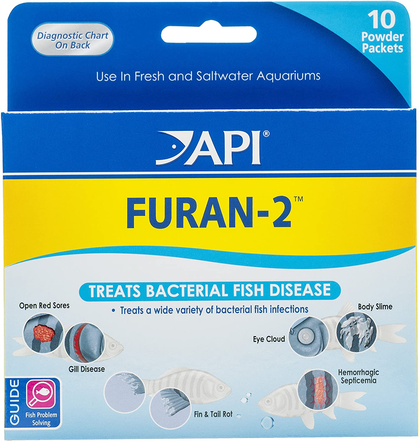 API FURAN-2 Fish Powder Medication 10-Count Box (70P)