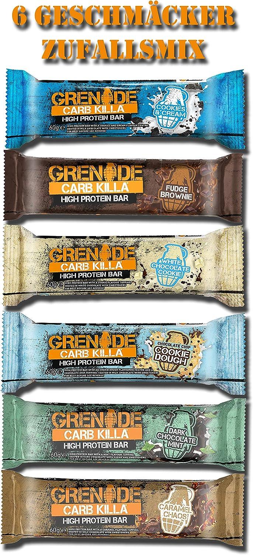 Grenade Carb Killa Barra alta en proteínas y baja en carbohidratos - Caja mezclada 12 x 60g