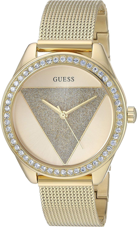 GUESS Reloj de Cuarzo para Mujer, Acero Inoxidable, Color: Dorado (Modelo: U1142L2)