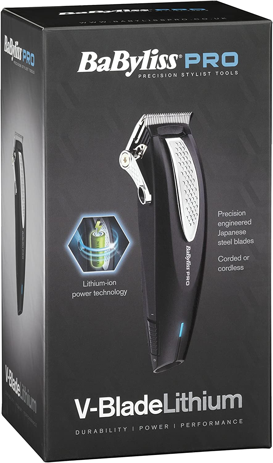 BaByliss Pro v-Blade litio Clipper: Amazon.es: Salud y cuidado ...