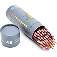 48 Professional Grade Oil Based Coloured Pencils For Artist Including Skin tone Pencils For Colouring Drawing And…