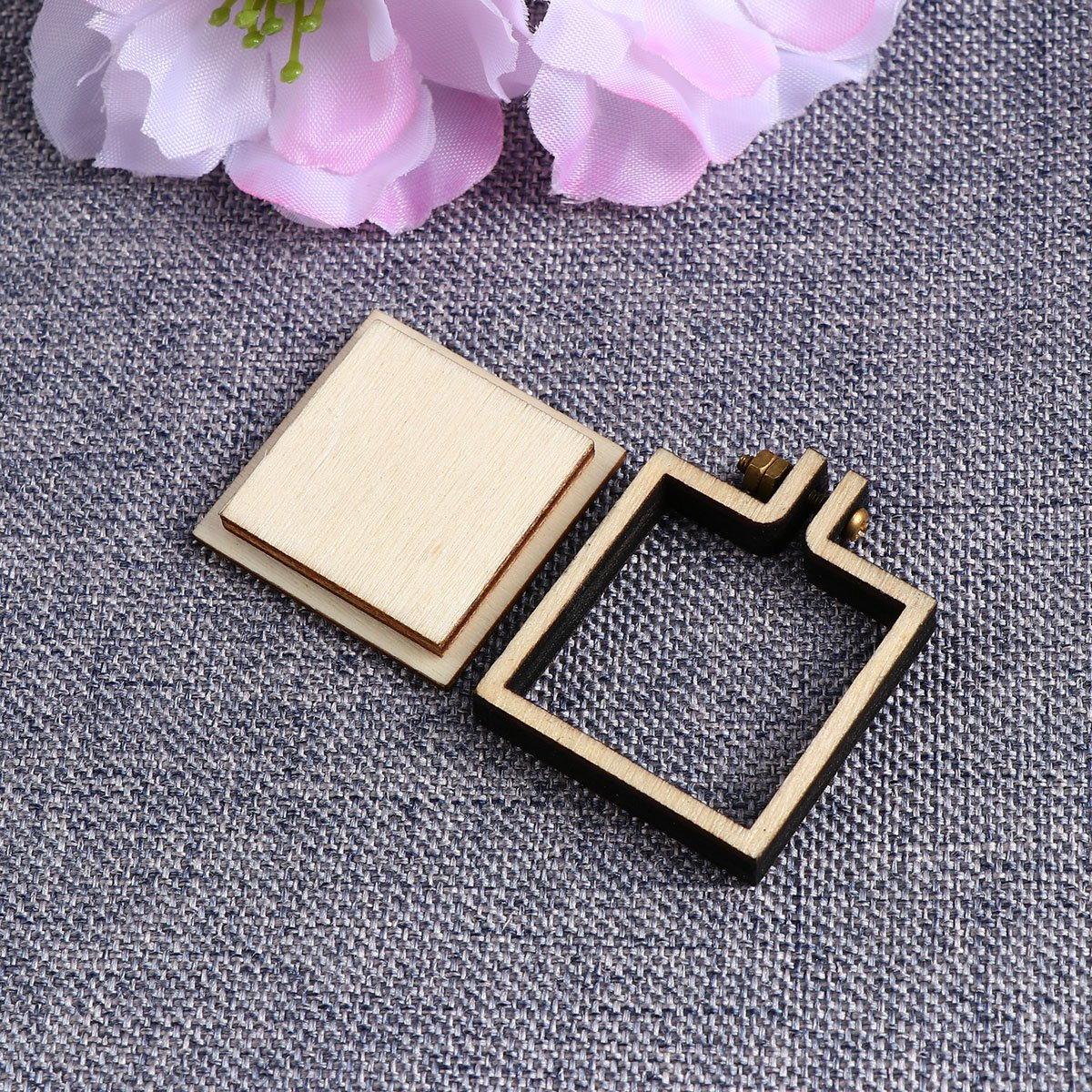 Healifty Mini Embroidery Hoop Rahmen Holz Platz Kreuzstich Hoop Ring ...