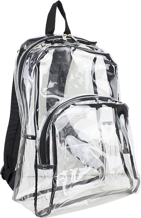 Eastsport Sac à dos transparent (Transparent avec garniture noire)