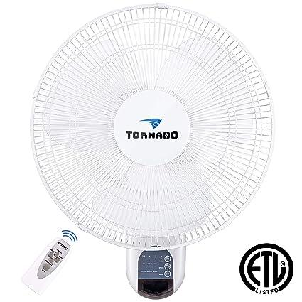 91aedcb681c5d5 Tornado 16 Inch Digital Wall Mount Fan - Remote Control Included - 3 Speed  Settings -