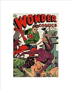 STANDARD RETRO COMIC BOOK COVER WONDER WEIRD ALIEN FRAMED ART PRINT B12X4913