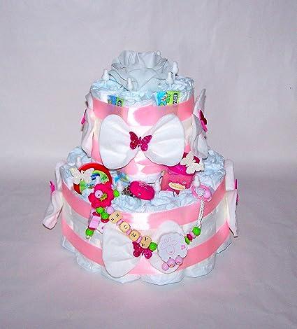 Pañales para tartas, color rosa, niña con nombre Cadena ...