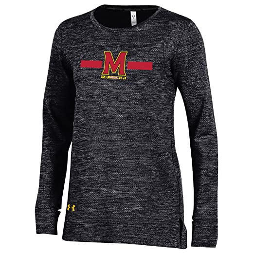 87bf382a Under Armour NCAA Maryland Terrapins Adult Women's Reactor Crew, Small,  Black