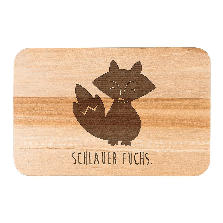 Mr. & Mrs. Panda Frühstücksbrett Fuchs Deluxe - Fuchs, Fux, Füchse, schlauer Fuchs, schlicht, schwarz weiß, Umriss, Schatten, Brett, Schneidebrett, Frühstücksbrett Füchse schwarz weiß Frühstücksbrett PD-DE-BFRB-FUDE-HBIR-P700608