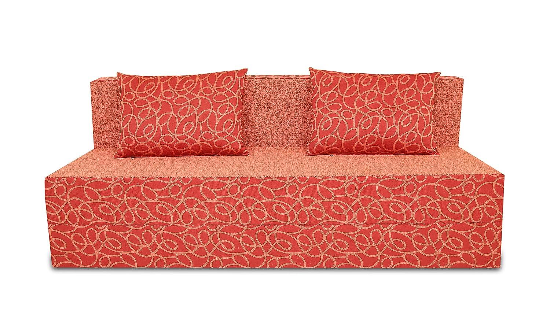 Adorn India Easy Three Seater Sofa Cum Bed Poly Cotton (Blue