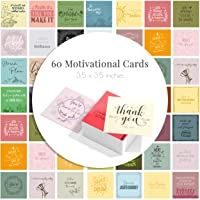 60 Motivational & Positive Affirmation Cards - 3.5