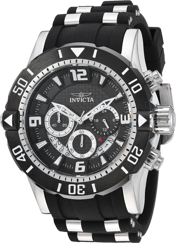 Invicta Men s Pro Diver Stainless Steel Quartz Diving Watch with Polyurethane Strap, Black, 26 Model 23696
