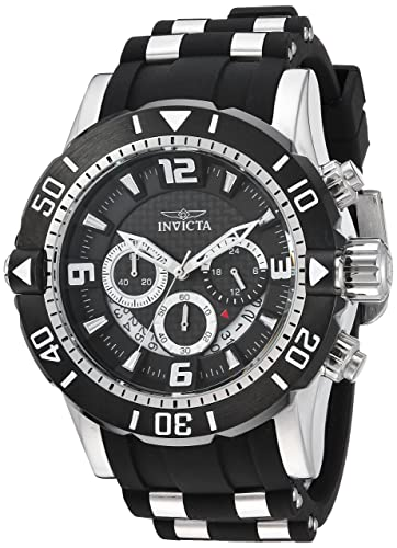 Invicta Men s Pro Diver Stainless Steel Quartz Diving Watch with Polyurethane Strap, Black, 26 Model 23696