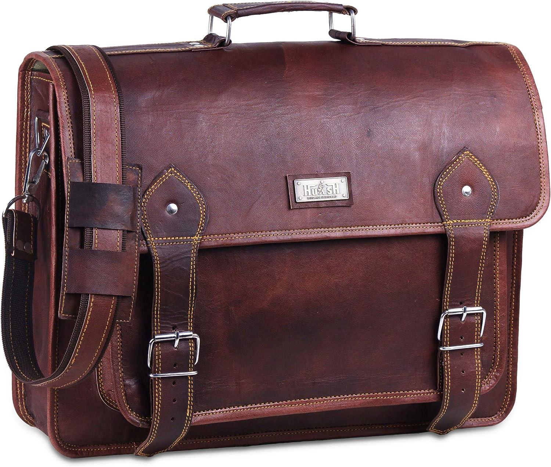 Vintage Leather Messenger Business Men New Genuine Laptop Briefcase Satchel Bag