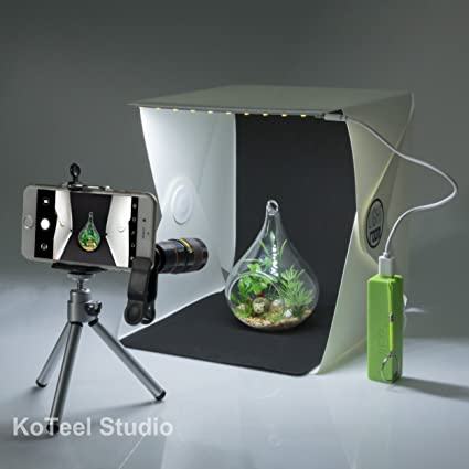 Amazon KoTeel Mini Photography Studio Light Tent LightRoom Box Kit With LED Foldable Led Two BackgroundsBlack White