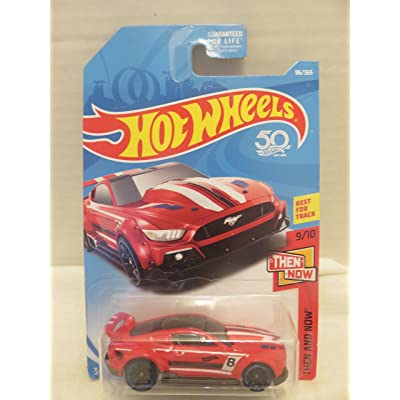 Hot Wheels 2020 50th Anniversary Then and Now Custom '15 Ford Mustang 96/365, Red: Toys & Games
