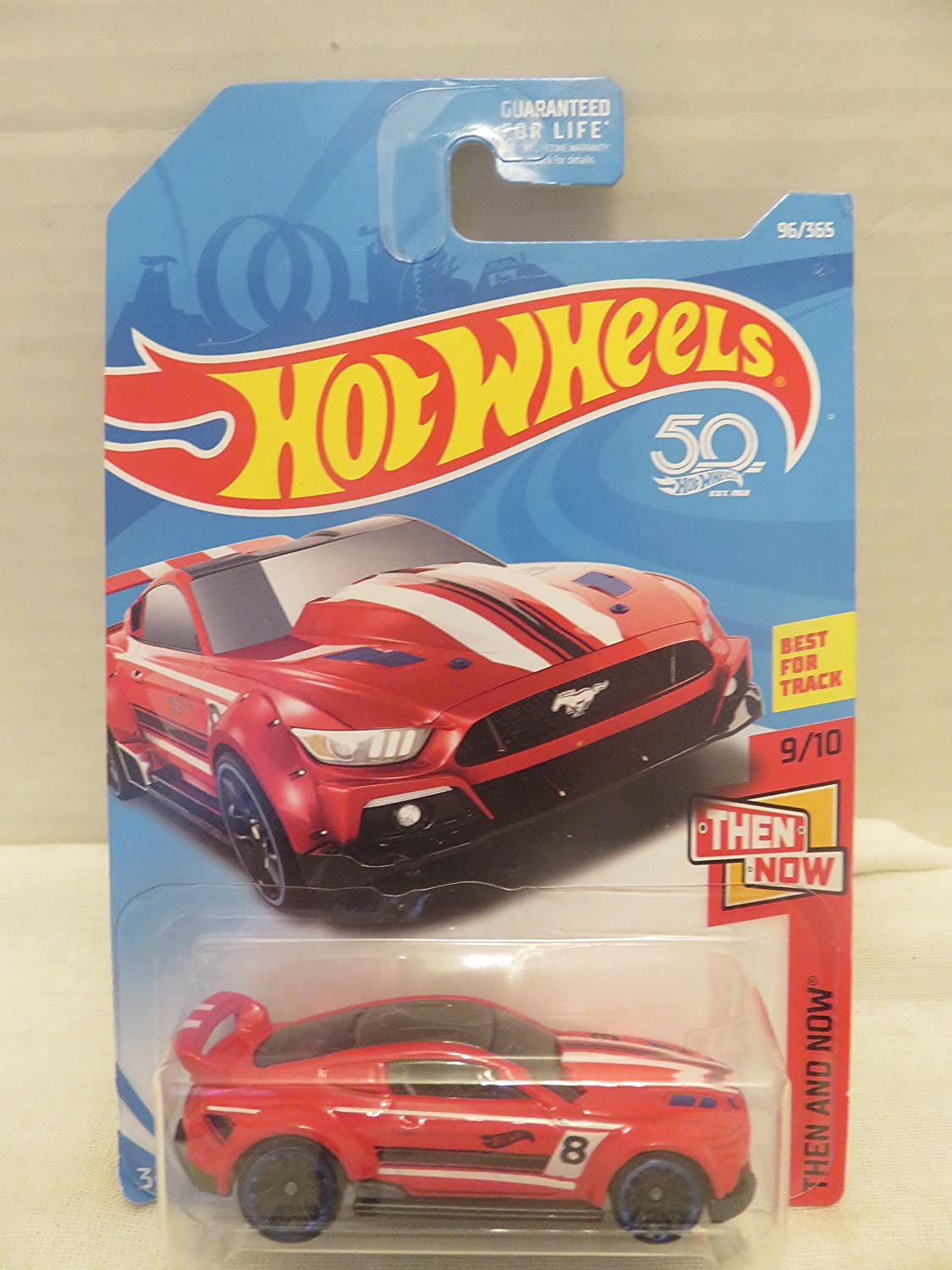 Amazon com hot wheels 2018 50th anniversary then and now custom 15 ford mustang 96 365 red toys games