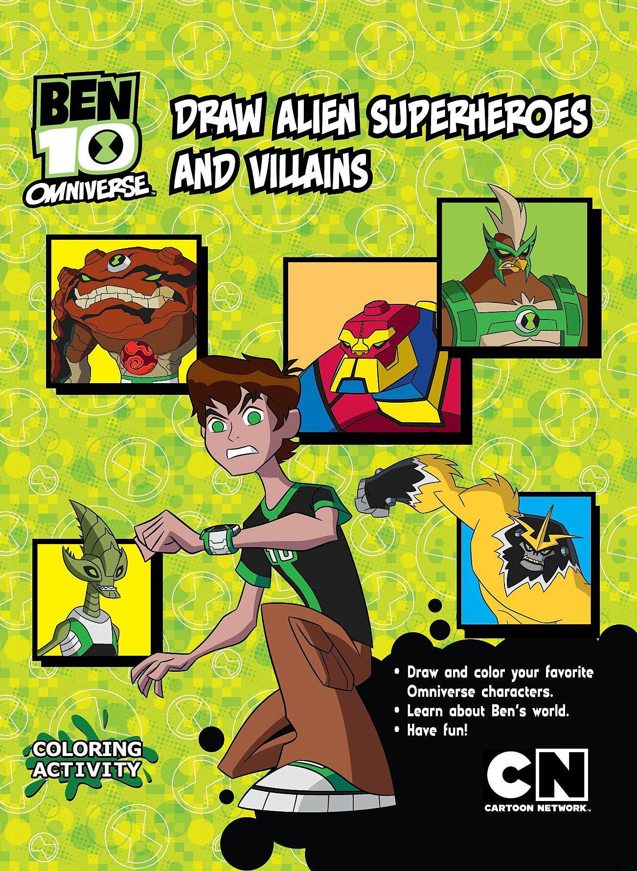 Ben 10 Omniverse Draw Alien Superheroes Villain Laura Farell 9789351030416 Amazon Com Books