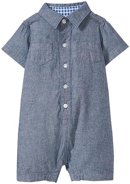e7bf85242936 Amazon.com  Carter s Baby Boys  Chambray Romper 118g318  Clothing