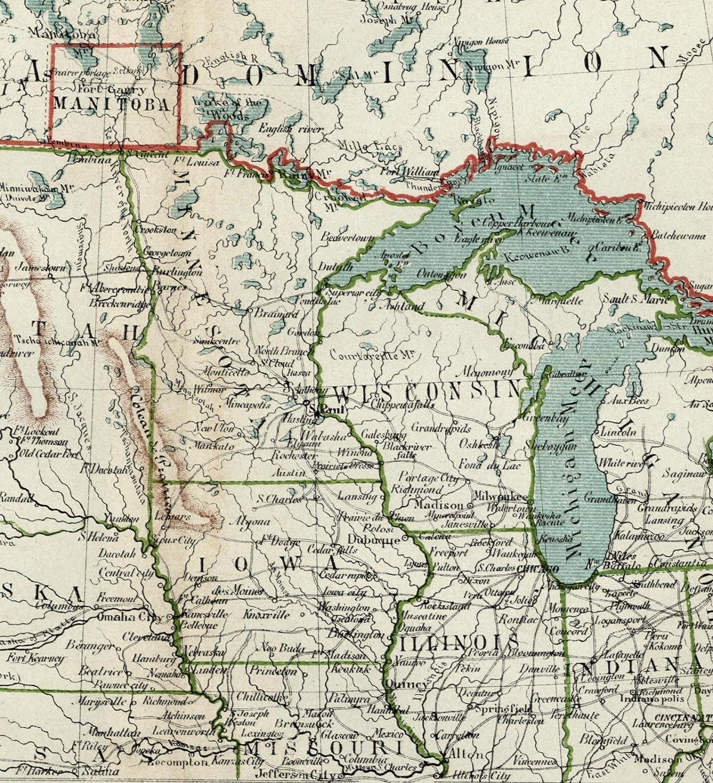 Amazon.com: Midwest United States U.S. Great Lakes Dakota Minnesota ...