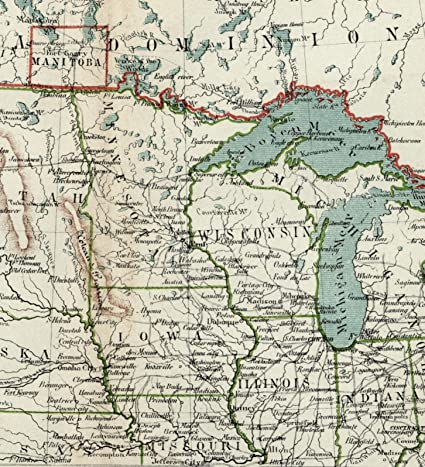 Amazoncom Midwest United States Us Great Lakes Dakota Minnesota - Map-of-us-midwest-states