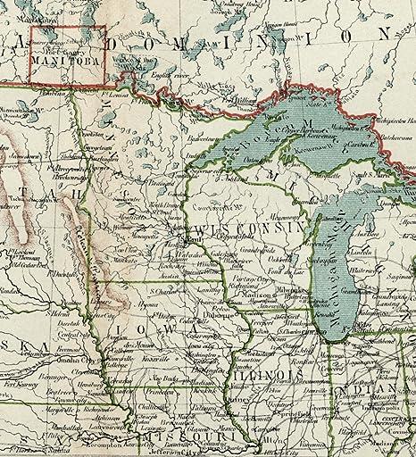 Amazon.com: Midwest United States U.S. Great Lakes Dakota ...