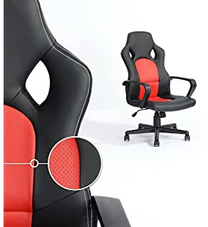 Executive Racing Style Office Chair PU Leather Swivel Computer Desk Seat  High Back Gaming Chair