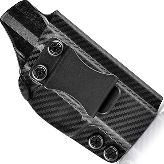 Concealment Express IWB KYDEX Holster (Carbon Fiber Black) - Inside Waistband - Adj. Cant & Posi-Click Retention - Claw Compatible - 100% US Made