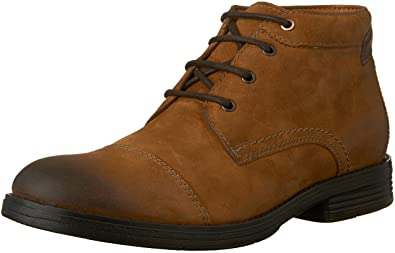 CLARKS Men's Devington Cap Chukka Boot, Tobacco, ...