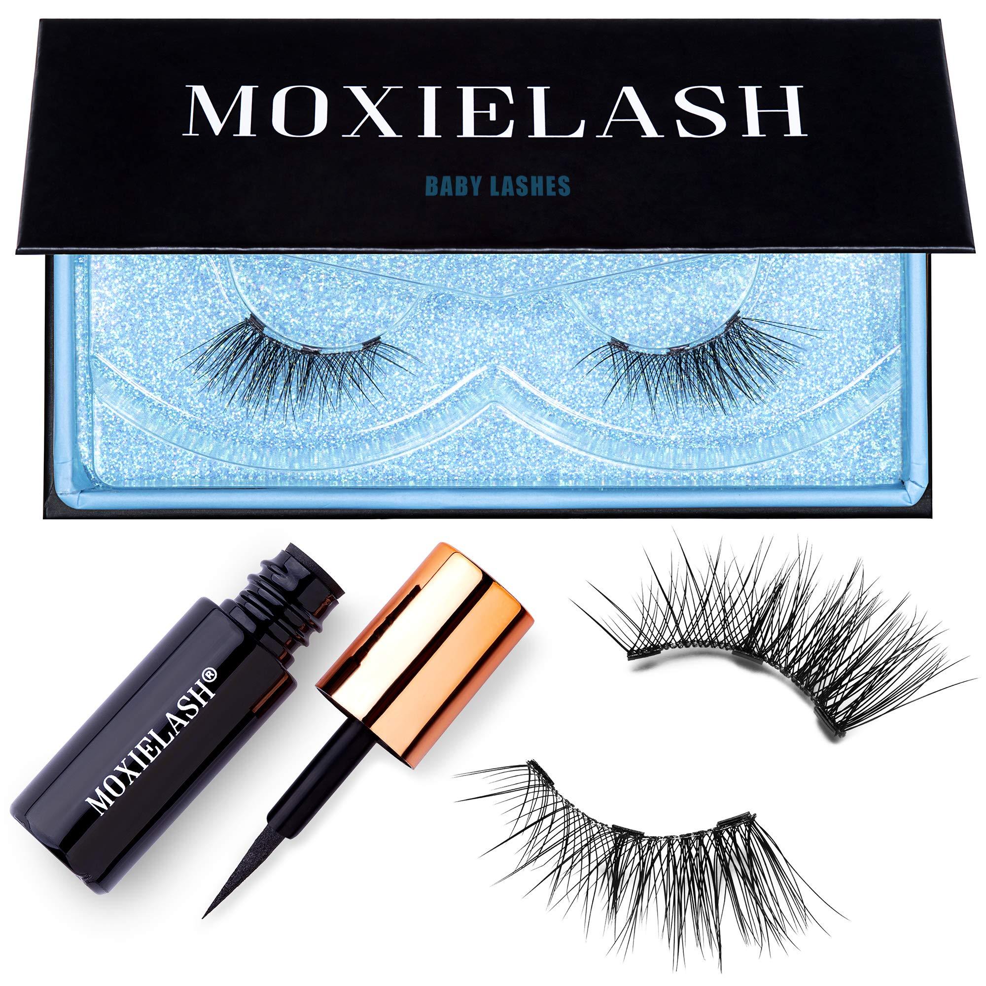 MoxieLash Baby Kit - Mini Magnetic Liquid Eyeliner for Magnetic Eyelashes - No Glue & Mess Free - Fast & Easy Application - Set of Baby Lashes & Instructions Included by MoxieLash