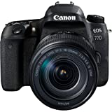 Canon EOS 77D SLR-Digitalkamera (24,2 Megapixel, 7,7 cm (3 Zoll) Display, APS-C CMOS Sensor, Full HD) kit inkl. EF-S 18-135mm 1:3,5-5,6 IS USM Objektive schwarz