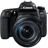 Canon SLR EOS 77D Fotocamera Digitale, Obiettivo EF-S 18-135 mm IS USM, Nero