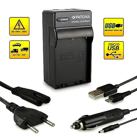 PATONA 4in1 Cargador de batería BLH-1 con conexión micro USB para Olympus OM-D E-M1 E-M5 Mark II Pen E-P5...