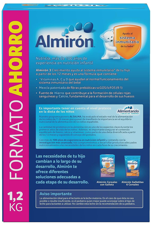 Almirón Leche en Polvo 12m+ - Paquete de 3 x 400 g - Total: 1200 g: Amazon.es: Amazon Pantry