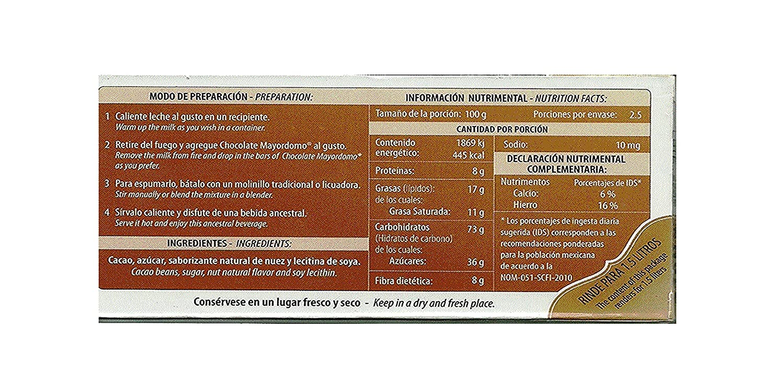Amazon.com : Chocolate El Mayordomo. The taste of Oaxaca (Nut, 250 gr) : Grocery & Gourmet Food