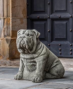 concrete sitting bulldog statue