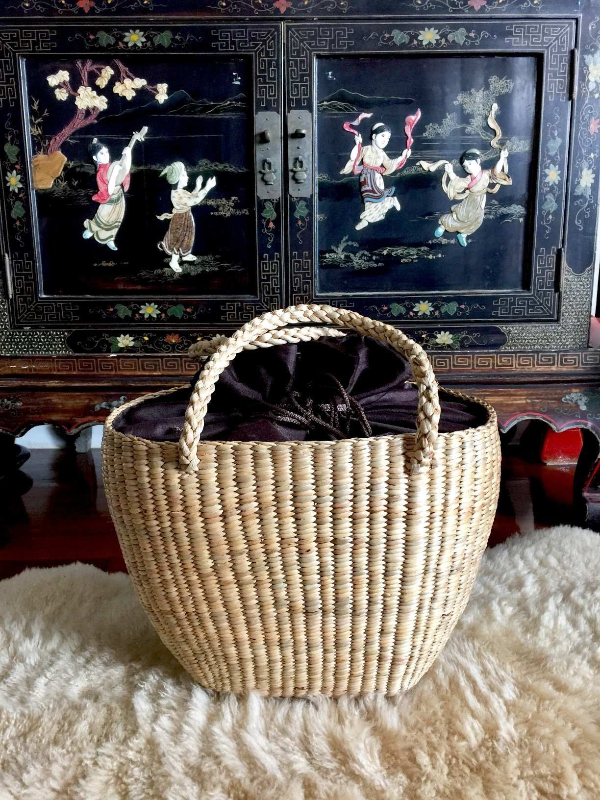Large Straw Beach Basket,Straw Basket Tote,Large Straw Bag,Woven Straw Bag,Straw Tote