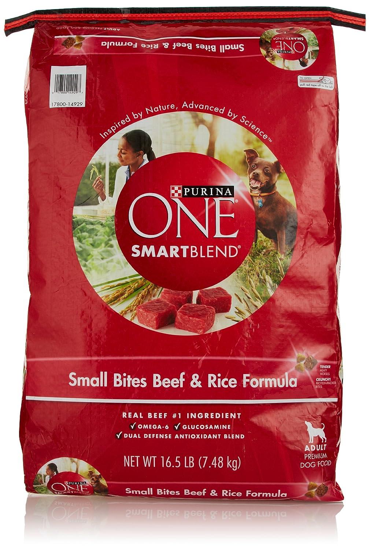 Purina ONE Dog Smartblend, Small Bites Beef and Rice Formula, Audlt 16.5 lb