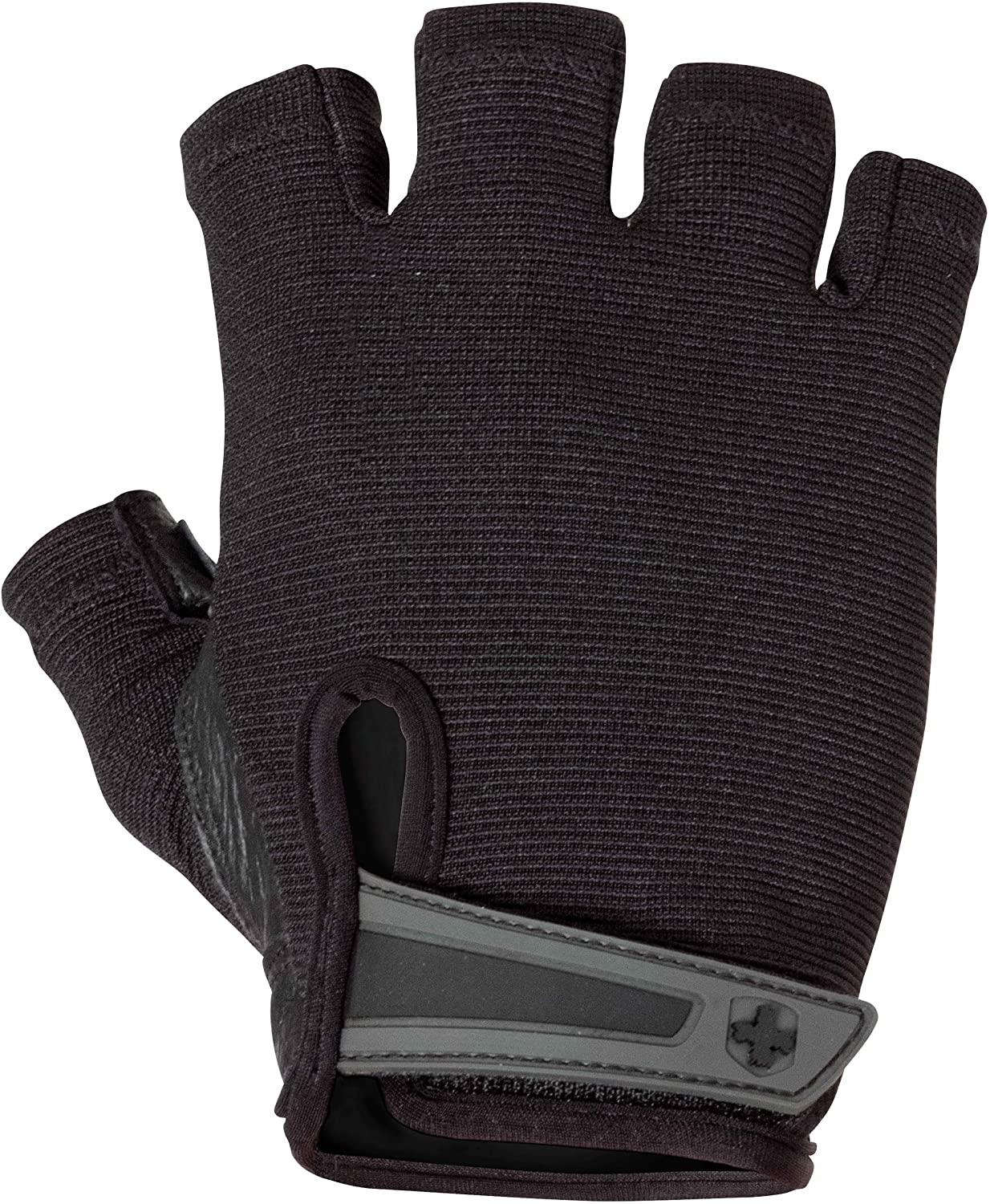 Harbinger Power Non-Wristwrap Weightlifting Gloves with StretchBack Mesh and Leather Palm (Pair), Black, Large, Large (Fits 8 - 8.5 Inches) : Exercise Gloves : Sports & Outdoors